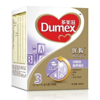 史无前例:Dumex 多美滋 金装优阶3段 幼儿配方奶粉 400g32.3元/盒子(46元,可满288-100)
