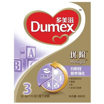 Dumex 多美滋 金装优阶3段 幼儿配方奶粉 400g47元/盒,4盒起售