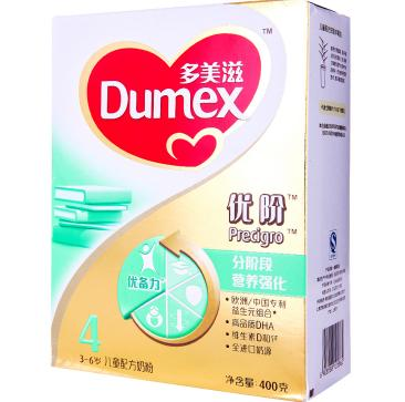Dumex 多美滋 金装优阶4段 儿童配方奶粉 400g45.5元(64元,4件折扣+用券)