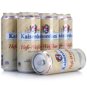 德国Kaiserdom凯撒白啤500ml*6听/箱39.9元包邮,历史新低,原价56元。
