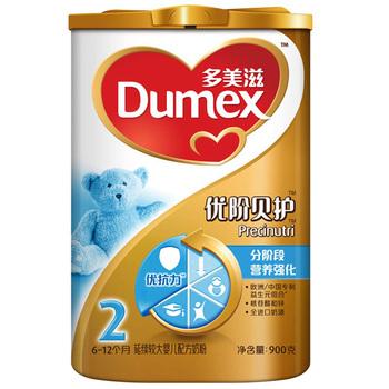 Dumex 多美滋 金装优阶贝护2段延续较大婴儿配方奶粉 900g119元包邮