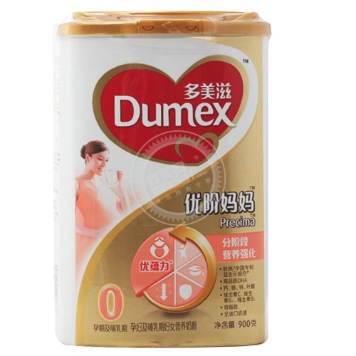 Dumex多美滋 金装优阶妈妈900g(罐)0孕期及哺乳期仅限华北地区,114元,赠500ml橄榄油,历史低价,而且还有赠品。