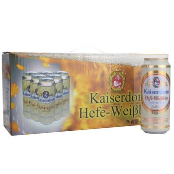 德国 Kaiserdom凯撒白啤500ml*12 礼盒装京东自营价79元,满199元赠京东价99元啤酒活动!