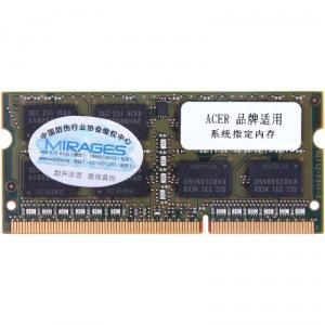 MIRAGES 幻影金条 DDR3 1600 4G 适用于Acer宏�系列笔记本易迅华北地区天黑黑价129元