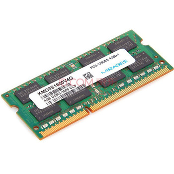 MIRAGES 幻影金条 DDR3 1600 4G 笔记本内存149元包邮,这个价格可以了