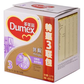 Dumex 多美滋金装优阶3段幼儿配方奶粉1200克(3联包)168元包邮