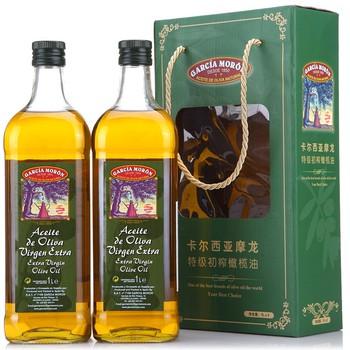 GARCIA MORON 卡尔西亚摩龙 特级初榨橄榄油礼盒1L*2瓶115元,可满199减100,低至32.5元/L,华南、华中地区现货