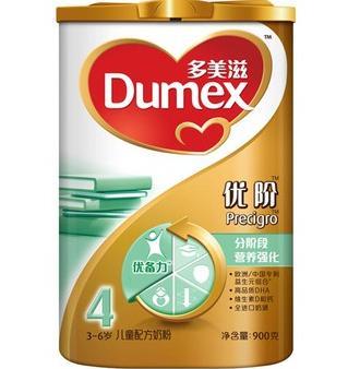 多美滋 Dumex 进口奶源 金装优阶4段儿童配方奶粉 900克116元,可满减