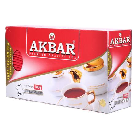 双重优惠:AKBAR 阿客巴 高山锡兰红茶 200g46.8元,买一赠一,还可用150-50券
