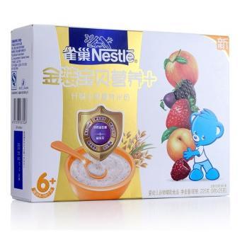 雀巢(Nestle)金装什锦水果营养米粉225g折合18.3元