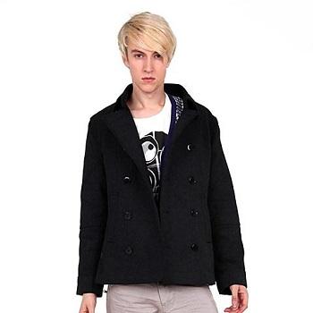 上海 汤尼俊士Tonyjeans 男士羊毛混纺翻领大衣 121040212099元包邮,其他渠道169+