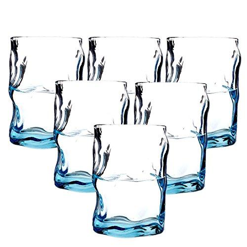Bormioli 波米欧利 意大利进口 索珍特蓝色水杯300ml (6只装)169元包邮