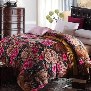 雅鹿家纺被套法莱绒加厚珊瑚绒加单双人被罩豹纹大花升级版200*230cm59元