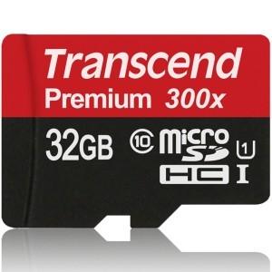 创见(Transcend)MicroSDHC(TF)UHS-I 300X 32G 存储卡 45M/s54.9