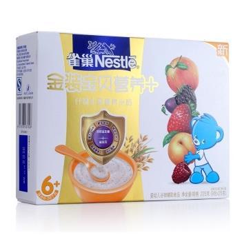 雀巢(Nestle)金装什锦水果营养米粉225g9.9元