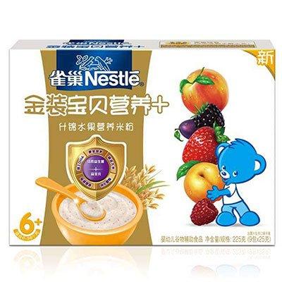 雀巢 什锦水果营养米粉19.45元(38.9元,买二付一),限购5件