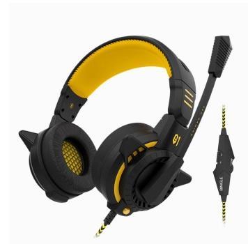 宾果(Bingle) G1北欧巨狼 狼图腾 狼牙线控 游戏系列电脑耳机(黑黄荣誉版)79元包邮