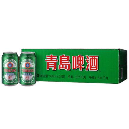 青岛啤酒 纯干拉罐 330ml*24罐整箱装