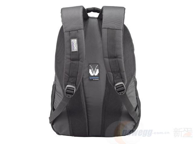 Sumdex森泰斯PC+ipad专业防雨罩男士防泼水商务双肩电脑背包PON-390BK黑色15寸99元