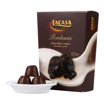 LACASA乐卡莎软心黑巧克力(代可可脂)100g/盒西班牙进口     7.95元(15.9元,买一送一)