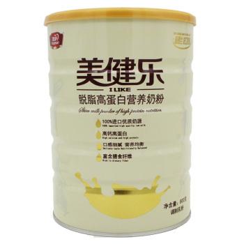 手机端:美庐 美健乐 脱脂高钙高蛋白营养奶粉800g 折32.7元(49,买2送1)