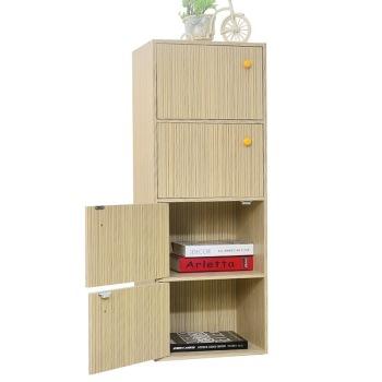 千意爱 四格柜(带门) 书架书橱储物柜子置物柜 SG004     69.5元 (139元,199-100)