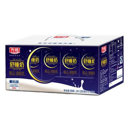 6月1日10点:光明 舒睡奶精品调制乳 250ml*12礼盒5.7元包邮,限部分地区