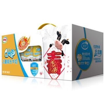 临期特价 限上海:伊利 QQ星儿童成长牛奶(健固型)190ml*15盒19元