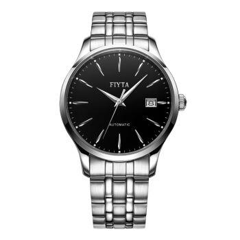 限PLUS会员:FIYTA 飞亚达 手表 琅轩系列机械男表商务经典腕表黑盘钢带WGA1010.WBW