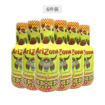 Arizona 亚利桑那 草莓味冰茶 500毫升/瓶 6瓶装
