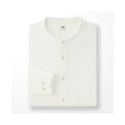 法兰绒立领衬衫